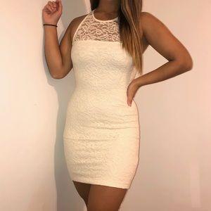 NWOT Cream Lace Mini Dress